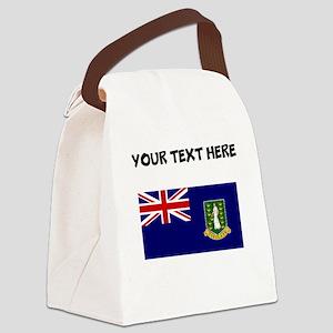 Custom British Virgin Islands Flag Canvas Lunch Ba