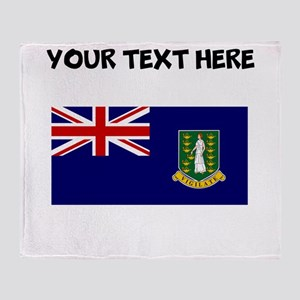 Custom British Virgin Islands Flag Throw Blanket