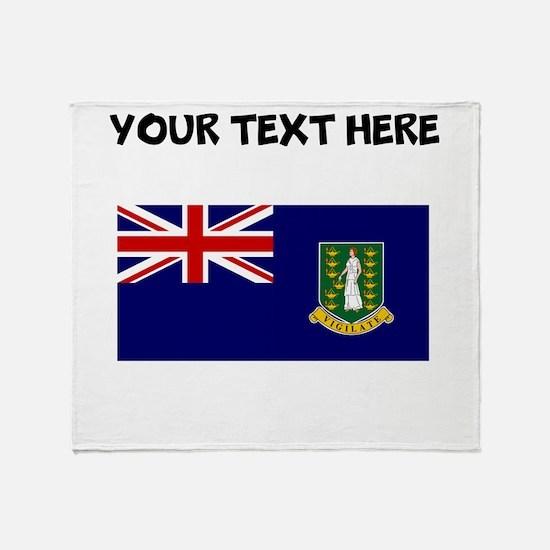 Custom British Virgin Islands Flag Throw Blanket