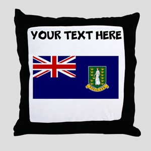 Custom British Virgin Islands Flag Throw Pillow