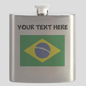 Custom Brazil Flag Flask