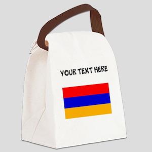 Custom Armenia Flag Canvas Lunch Bag