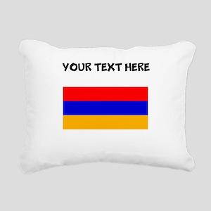 Custom Armenia Flag Rectangular Canvas Pillow