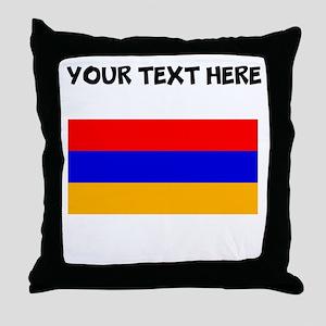 Custom Armenia Flag Throw Pillow