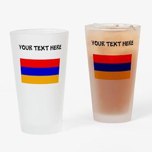 Custom Armenia Flag Drinking Glass