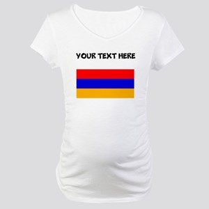 Custom Armenia Flag Maternity T-Shirt