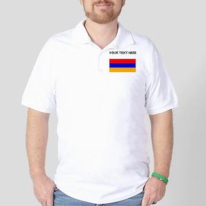 Custom Armenia Flag Golf Shirt