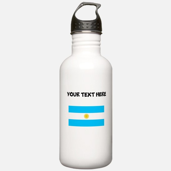 Custom Argentina Flag Water Bottle