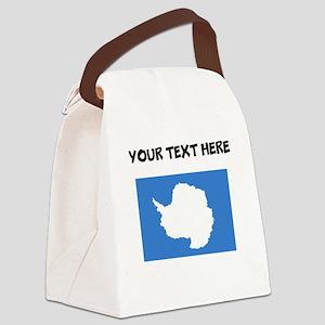 Custom Antarctica Flag Canvas Lunch Bag