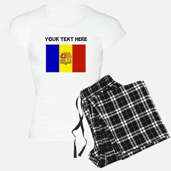 Custom Andorra Flag Pajamas