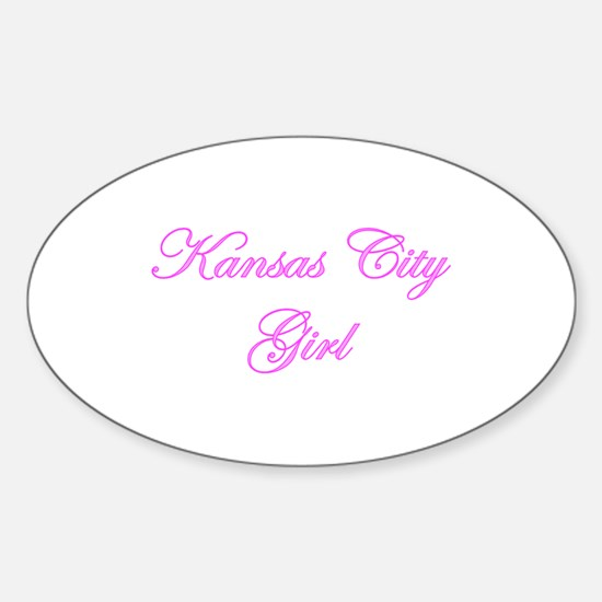 Kansas City Girl Oval Decal