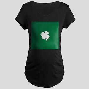 St Patricks Day Shamrock Maternity T-Shirt