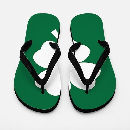 St Patricks Day Shamrock Flip Flops
