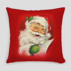 Vintage Christmas Santa Claus Everyday Pillow