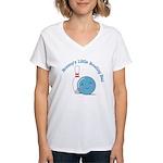 Mommy BB (Blue) Women's V-Neck T-Shirt