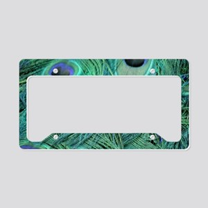 Colorful Peafowl Feathers License Plate Holder