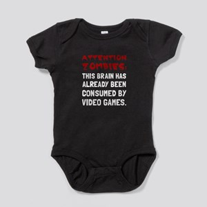 Attention Zombies Video Games Baby Bodysuit