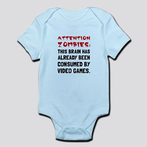 Attention Zombies Video Games Body Suit