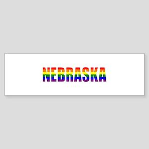Nebraska Pride Bumper Sticker