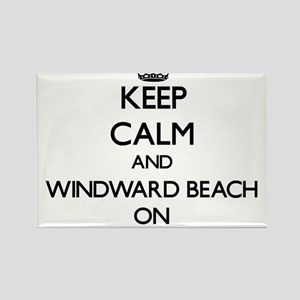 Keep calm and Windward Beach New Jersey ON Magnets
