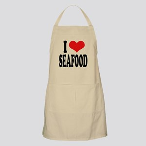 I Love Seafood BBQ Apron