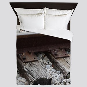Railroad Track Queen Duvet