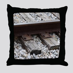 Railroad Track Throw Pillow