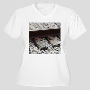 Railroad Track Plus Size T-Shirt