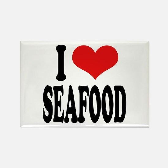 I Love Seafood Rectangle Magnet (100 pack)