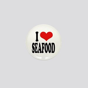 I Love Seafood Mini Button