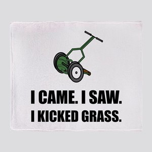 Came Saw Kicked Grass Throw Blanket