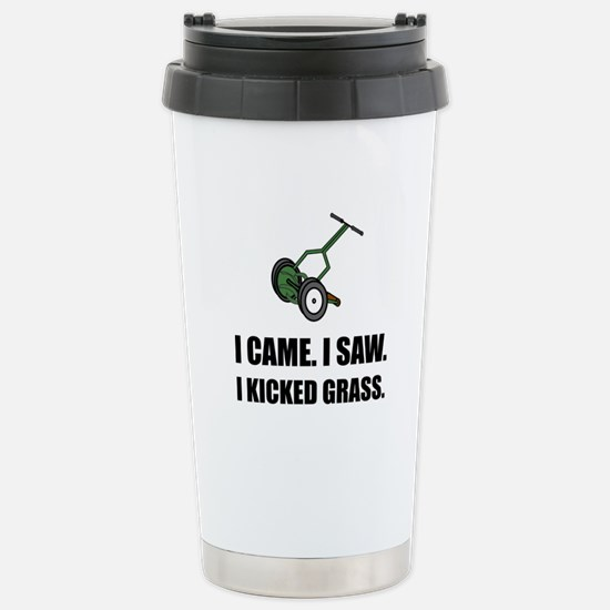 Came Saw Kicked Grass Travel Mug