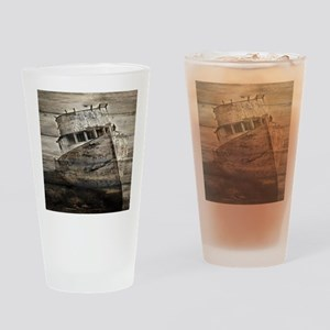 rustic boat beach nautical  Drinking Glass