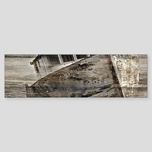rustic boat beach nautical Bumper Sticker