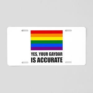 Gaydar Is Accurate Aluminum License Plate