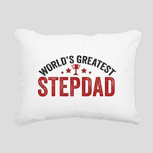 World's Greatest Stepdad Rectangular Canvas Pillow