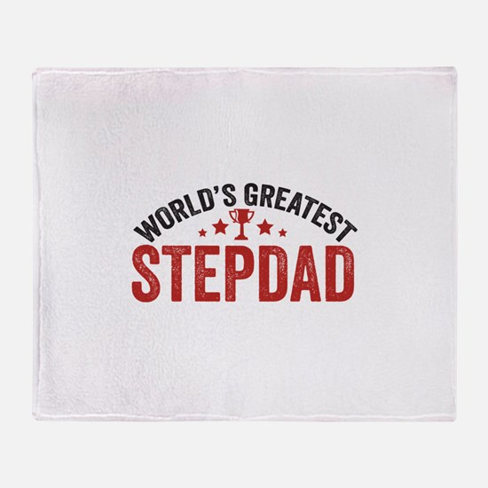 World's Greatest Stepdad Throw Blanket