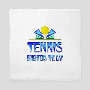 Tennis Brightens the Day Queen Duvet