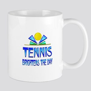 Tennis Brightens the Day Mug