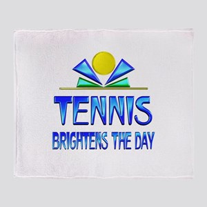 Tennis Brightens the Day Throw Blanket