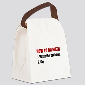 How To Do Math Canvas Lunch Bag
