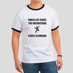 Mountains Start Climbing T-Shirt
