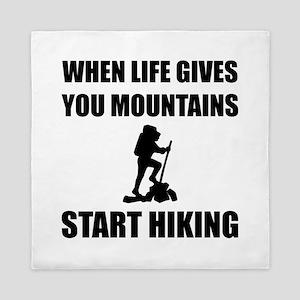 Mountains Start Hiking Queen Duvet