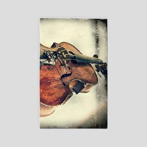 classic vintage violin Area Rug