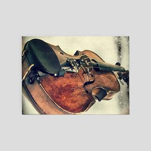 classic vintage violin 5'x7'Area Rug