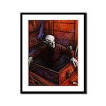 Dracula Nosferatu Vampire Framed Panel Print