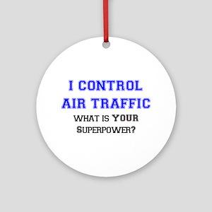 control air traffic Ornament (Round)