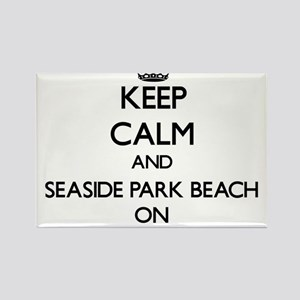 Keep calm and Seaside Park Beach Connectic Magnets