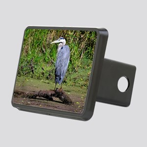 Great Blue Heron Rectangular Hitch Cover