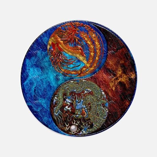Harvest Moons Firebird & Dragon Button